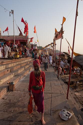 Daily street life in Varanasi