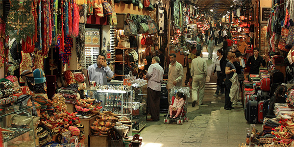 Shopping in the Grand Bazaar - one of the largest covered markets in the world