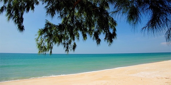The beach at Golden Buddha Beach Resort