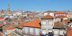 The terracotta rooftops of Porto