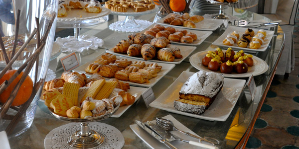 Villa Carlotta's delicious breakfast