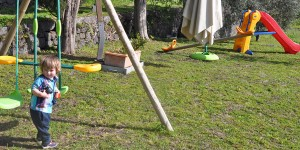 Cormac loved the swings
