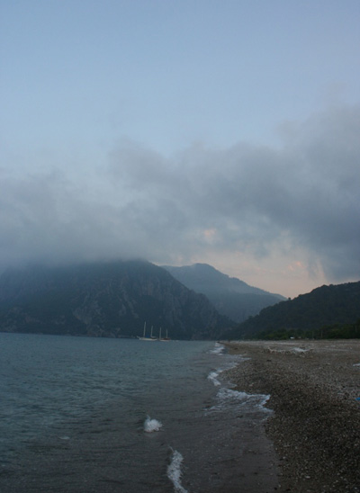 Cirali's quiet beach
