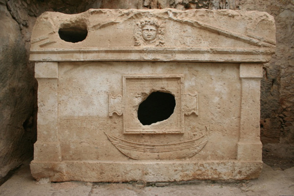 Sarcophagus in the ancient city of Olympos