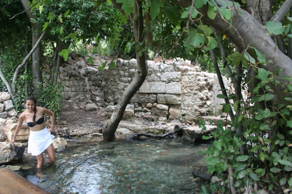 Wading through streams in Olympos