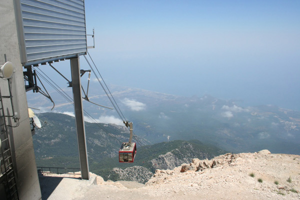 The cable car on Mt Tahtali