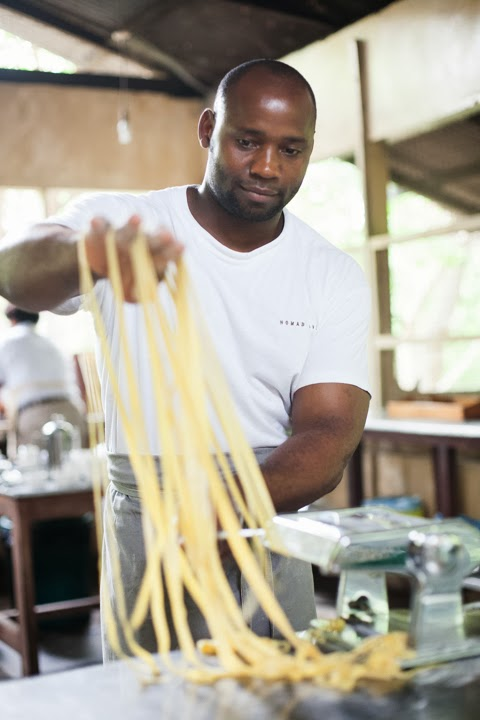Head Chef Daudi making his own pasta