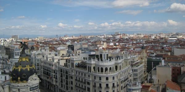 Panoramic views at La azotea del Círculo de Bellas Artes