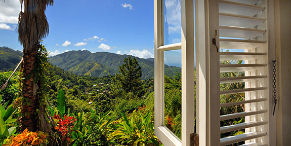 View over the Blue Mountains, Jamaica