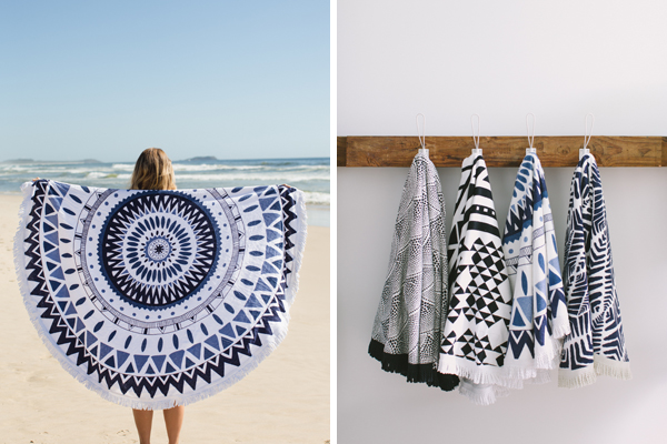 Majorelle round towel from The Beach People