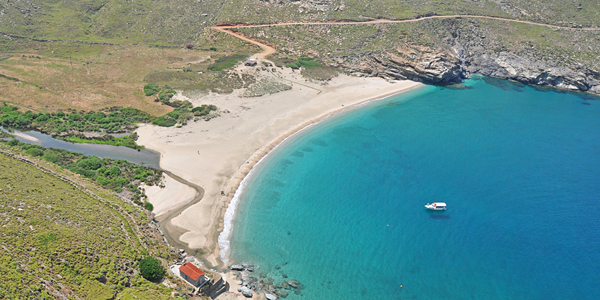 i-escape: Onar and Ahla Beach, Andros, Greece