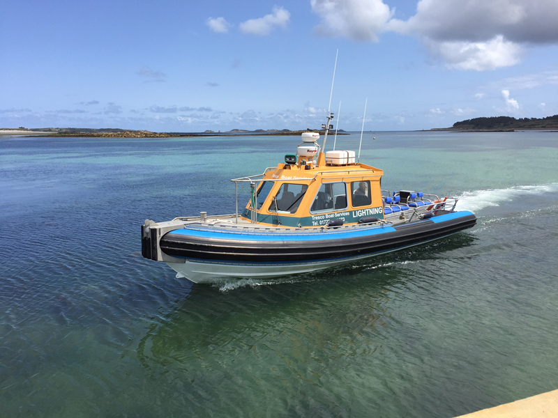 i-ecape blog / A family holiday on the Isles of Scilly /Transfers from St Mary's airport to Tresco are a doddle by fast jet boat
