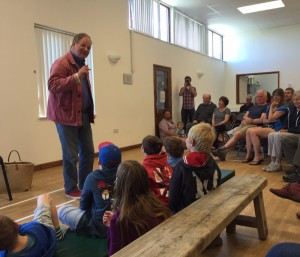 i-escape blog / The marvellous Michael Morpurgo giving a talk about his books on Bryher