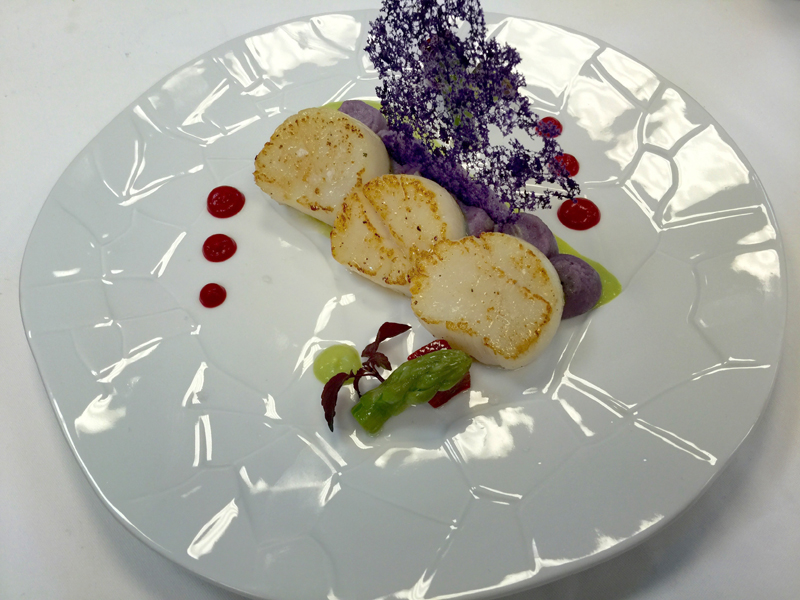i-escape blog / Seared scallops at Villa Dubrovnik