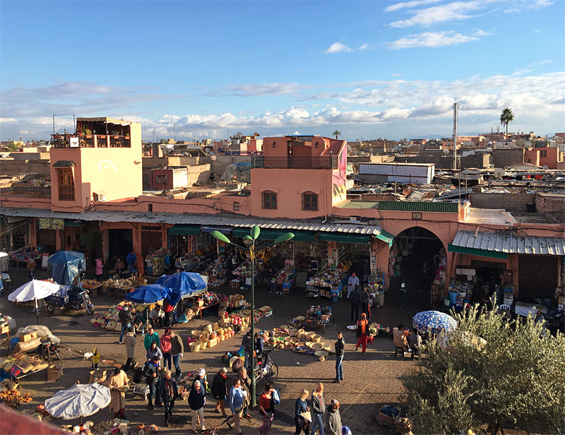 i-escape blog / Top Tips for Marrakech / View from Café des Epices Marrakech