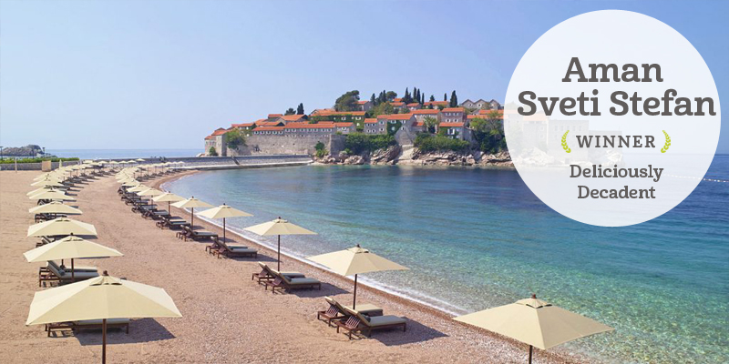 i-escape blog / i-escape Feel-Good Award Winners 2017 / Aman Sveti Stefan