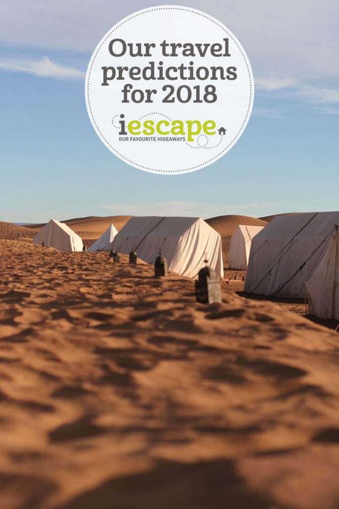 The i-escape blog / i-escape's travel predictions for 2018