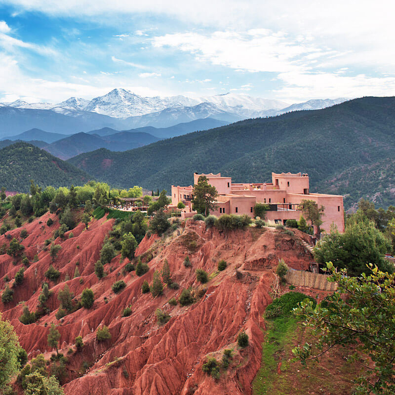 the i-escape blog / The best mountain-activities holidays / Kasbah Bab Ourika Morocco