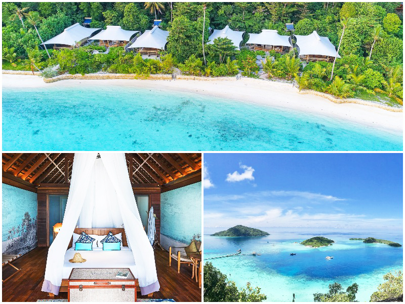 12 hotels with the clearest blue waters in the world / Bawah / Jake Hamilton / The i-escape blog