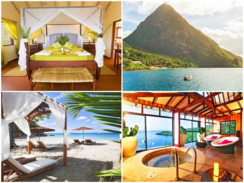 the i-escape blog / best-adults-only-hotels-islands / Ti Kaye St Lucia Caribbean