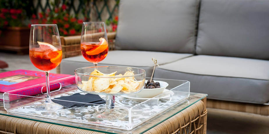 Eating: Roof terrace (Moncada Palace)