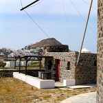Milos windmill, Greece, The outhouse
